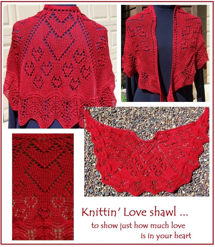 Knittin' Love shawl