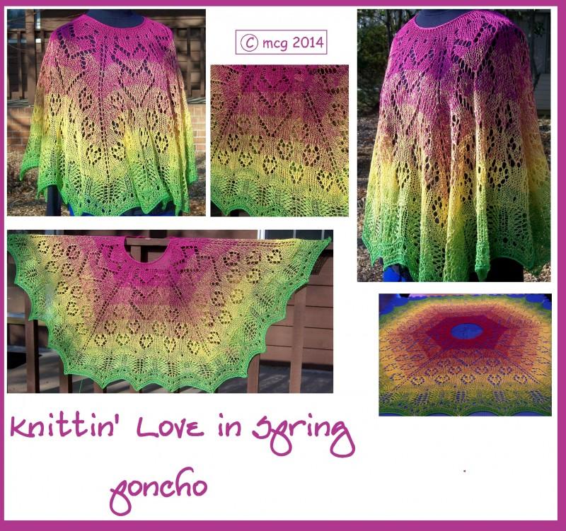 Knittin' Love in Spring poncho