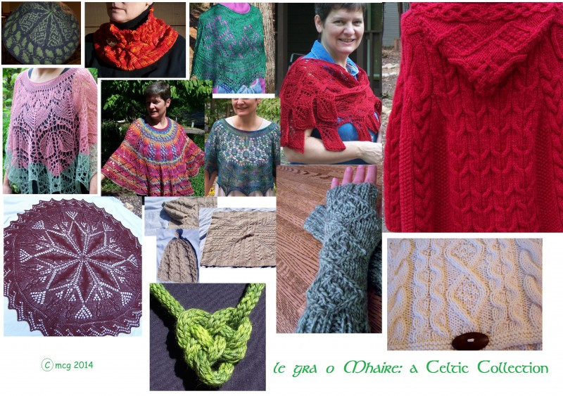 the 12 designs included in my ebook: le gra o Mhaire!