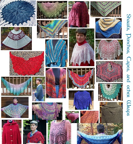 Just a few of my many designs available on Ravelry