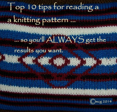 reading a pattern