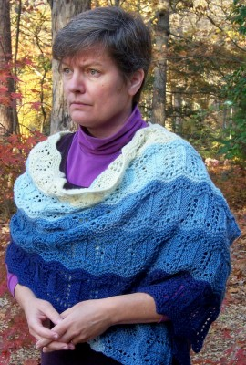 Blue Ridge Mountains shawl -- over the seas and to the mountains they came