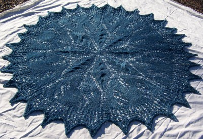 Colleen's Cover - a circle lapblanket or cozy shawl