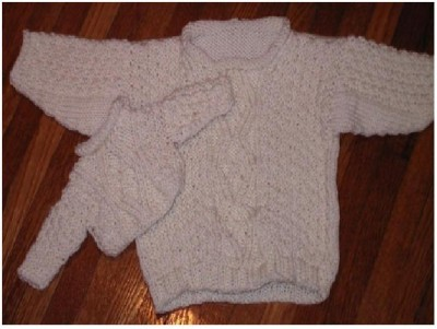 """Me and My Doll Irish Sweaters ... for your daughter and her 18"""" doll"""