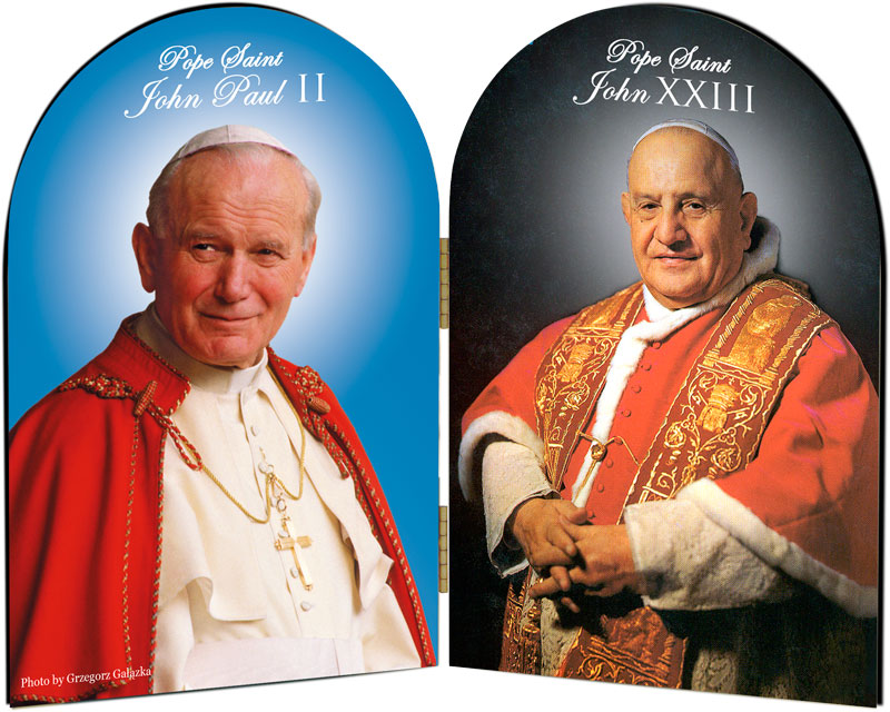 Pope-John-Pau-II-and-John-XXIII-Sainthood-Arched-Diptych__00561_zoom