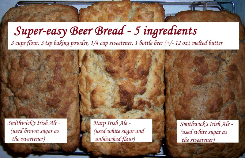 Beer Bread This Is An Awesome Recipe And Only Requires 5 Ingredients For The Most Basic But You Can Add All Kinds Of Goodies As You D Like