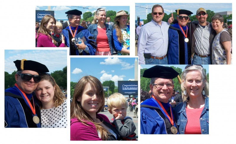 """GWU Graduation - May 18, 2014 on the National Mall .... otherwise known as """"big brother gets his PhD"""""""