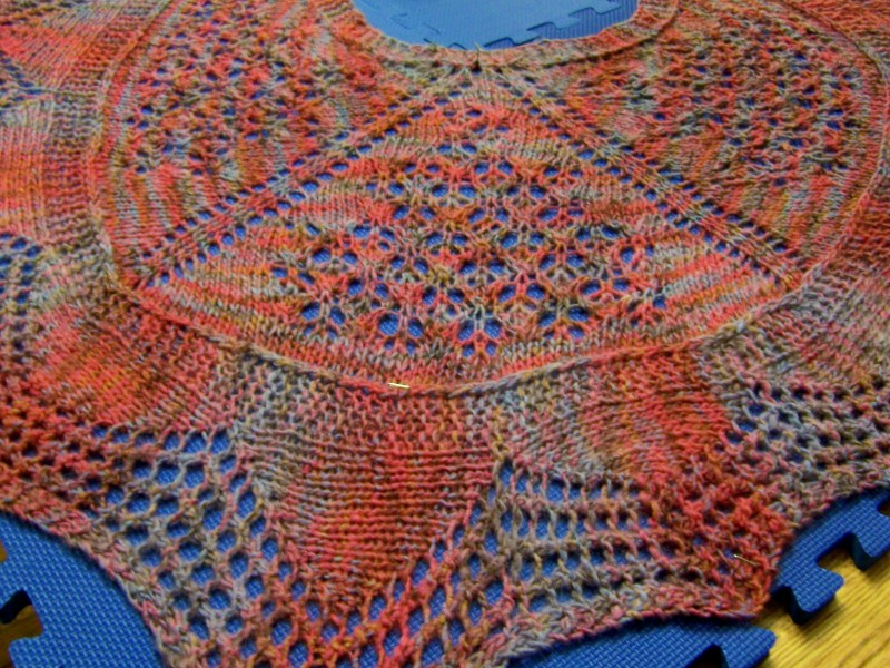 Raleigh Wrapper ... a fun and cozy shawl