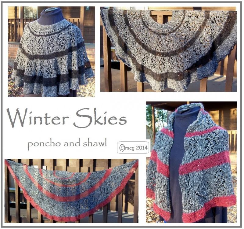 Winter Skies ... shawl AND poncho
