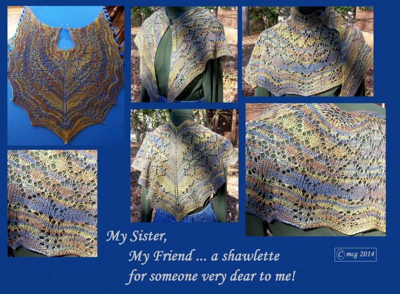 My Sister, My Friend shawlette