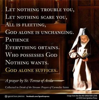 Patron Saint for 2015:  St Teresa of Avila