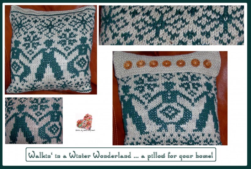 Walkin' in a Winter Wonderland ... a pillow for your home!