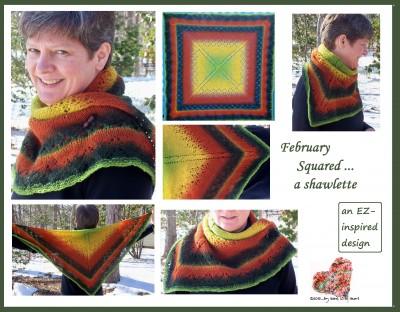 February Squared ... a shawlette