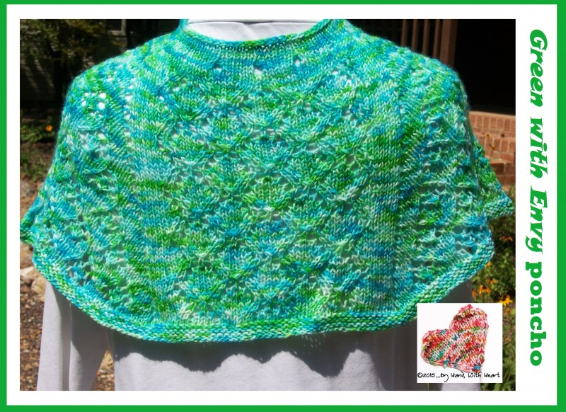 Green with Envy poncho ... kool-aid dyeing at its best!