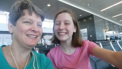 Waiting on our big plane ...