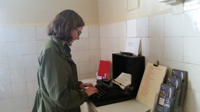 Maggie typing away at Greenway!