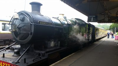 Our Steam Train.  The engine's name is Hercules!