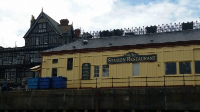 Our lunch spot:  Dartmouth Station Restaurant, overlooking the River Dart