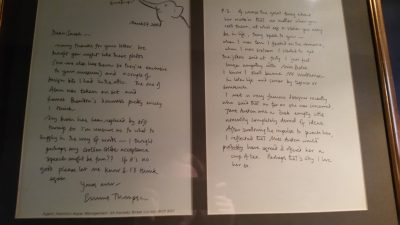 """Letter from Emma Thompson during the shooting of """"Sense  and Sensibility"""""""