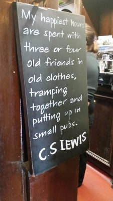 Quote from CS Lewis that sums up the Inklings and their ways ...