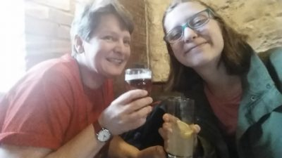Drinking a toast to the Inklings ... and being in Oxford ... and hanging with my buddy!
