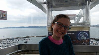 Miss Maggie in our gondola