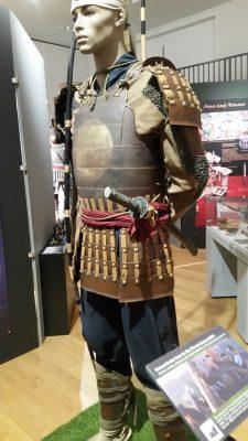 "A ""samurai thru history"" exhibit based on the movie, filmed nearby, The Last Samurai"