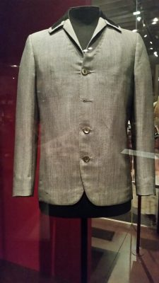 Ringo Starrs iconic jacket from the early days of the Beatles in an exhibit about theater and design and costuming.