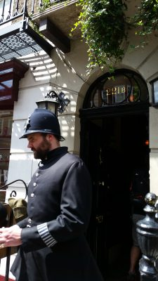 221B Baker Street ... we could NOT get the Bobby to smile