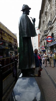 Sherlock Holmes on Marleybone ... just down the street from his home on Baker Street.