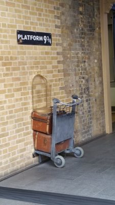 Platform 9-3/4 ... where folks are launched into Harry Potter's world