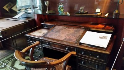 Dickens' desk where he wrote much of his work