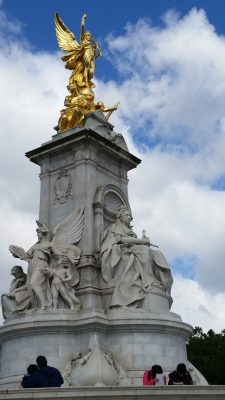 The Queen Victoria Memorial set right outside the gates of Buckingham Palace