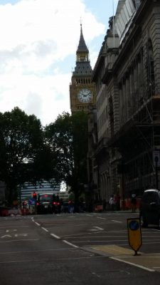Our first, but not last, glimpse of Big Ben