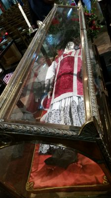 Robert Southwell's relics lying in state