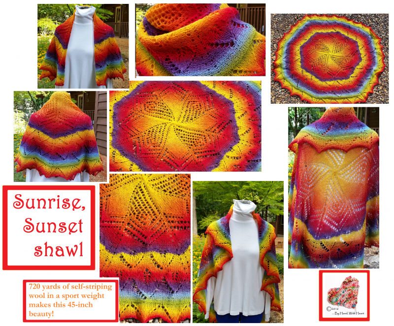 Sunrise, Sunset Shawl (45-inch diameter)