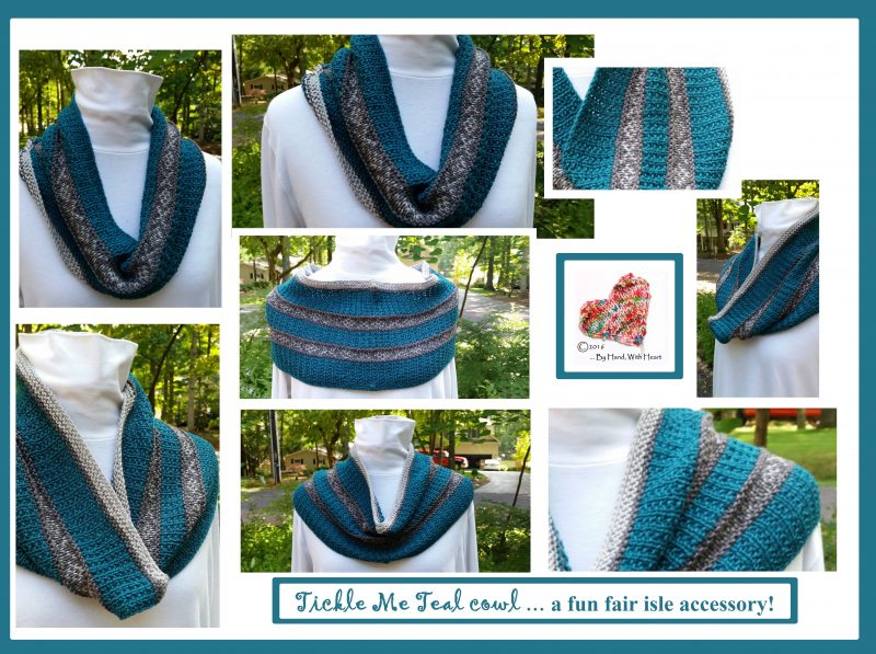 Tickle Me Teal cowl