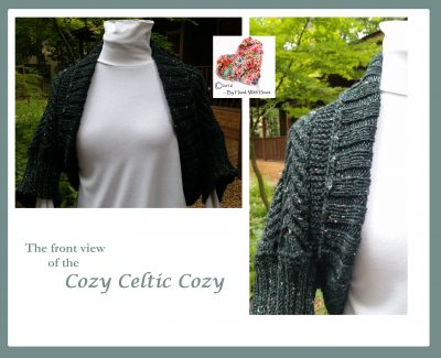 A front view of the Cozy Celtic Cozy