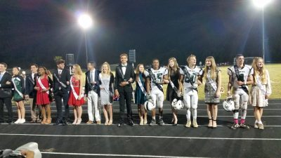 Homecoming Court at half-time ... October 7, 2016